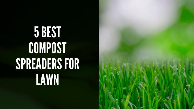 Compost spreader for lawn