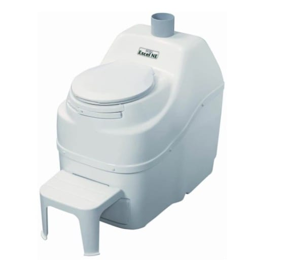 Sun-Mar Excel Non-Electric Self-Contained Composting Toilet, Model #Excel-NE