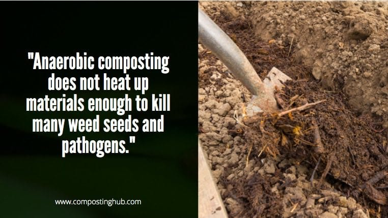 Anaerobic composting and pathogens