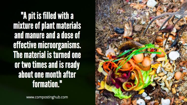 Pit Compost with Effective Microorganisms